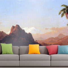 Roshni Arts - Curated Art Wall Mural - In the tropics by Frederick Edwin Church | Self-Adhesive Vinyl Furnishings Decor Wall Art