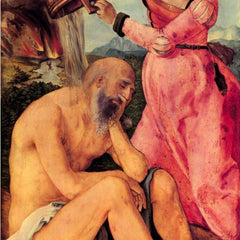 The Museum Outlet - Job mocked by his wife by Durer