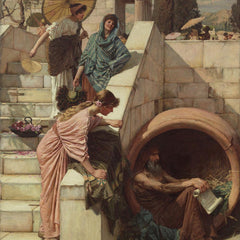 100% Hand Painted Oil on Canvas - John Waterhouse - Diogenes