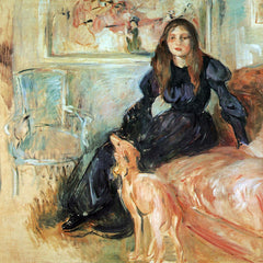 The Museum Outlet - Julie Manet and her greyhound Laertes by Morisot