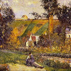 100% Hand Painted Oil on Canvas - L'Hermitage Tontiose by Pissarro