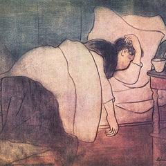 The Museum Outlet - Lady in bed by Joseph Rippl-Ronai