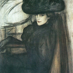 The Museum Outlet - Lady with black veil  by Joseph Rippl-Ronai