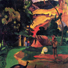 The Museum Outlet - Landscape With Peacocks by Gauguin