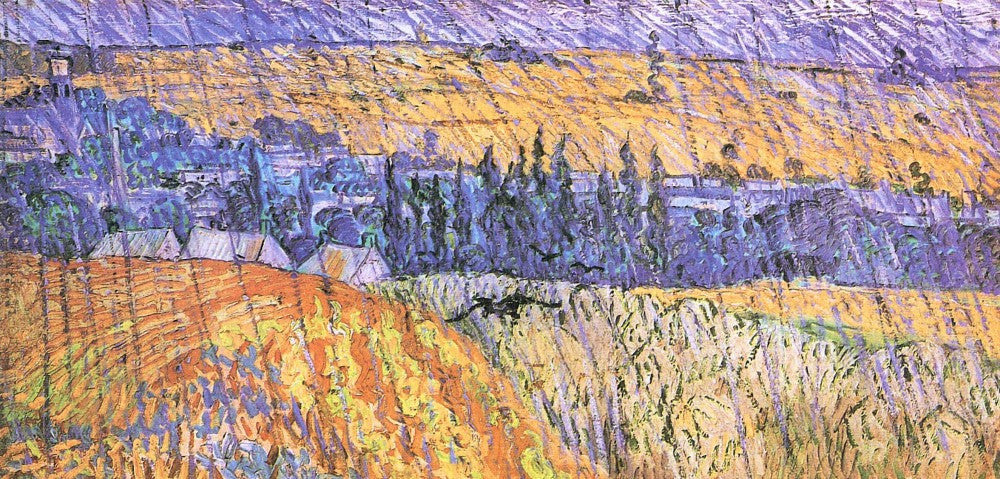 The Museum Outlet - Landscape at Auvers in the Rain [1] by Van Gogh