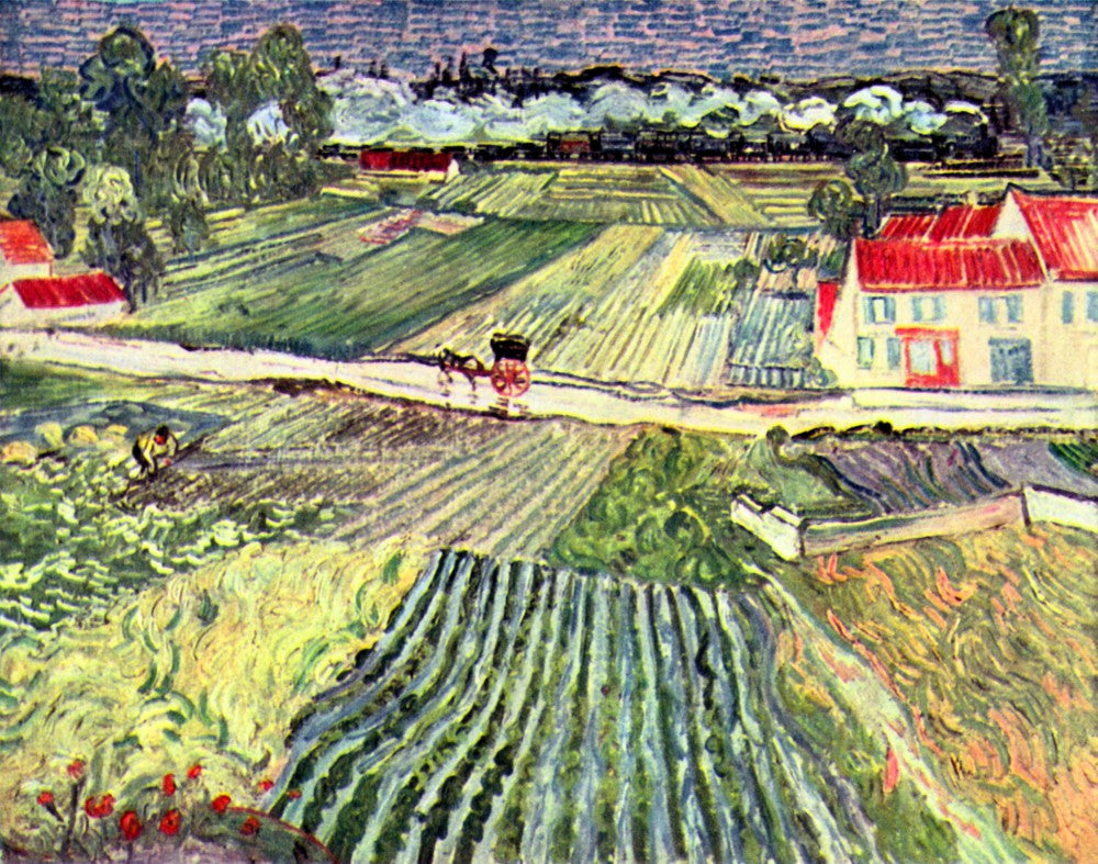 The Museum Outlet - Landscape at Auvers in the Rain [2 by Van Gogh