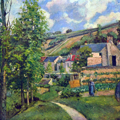 100% Hand Painted Oil on Canvas - Landscape in Pontiose by Pissarro