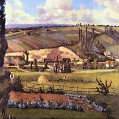 100% Hand Painted Oil on Canvas - Landscape with Farm Houses by Pissarro