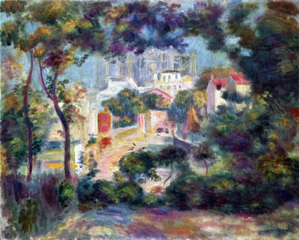 The Museum Outlet - Landscape with a view of the Sacred Heart by Renoir