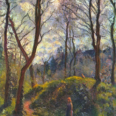 100% Hand Painted Oil on Canvas - Landscape with big trees by Pissarro