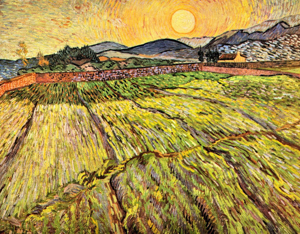 The Museum Outlet - Landscape with plowed fields by Van Gogh
