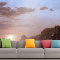 Roshni Arts - Curated Art Wall Mural - Large Manan Island, Bay of Fundy by Frederick Edwin Church | Self-Adhesive Vinyl Furnishings Decor Wall Art