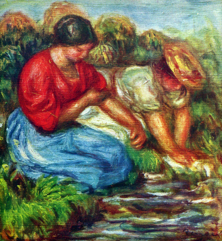 The Museum Outlet - Laundresses [1] by Renoir