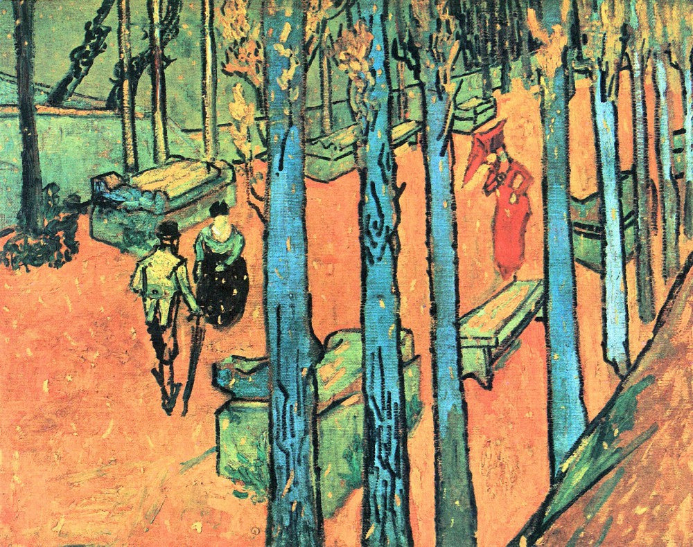 The Museum Outlet - Les Alyscamps, falling leaves by Van Gogh