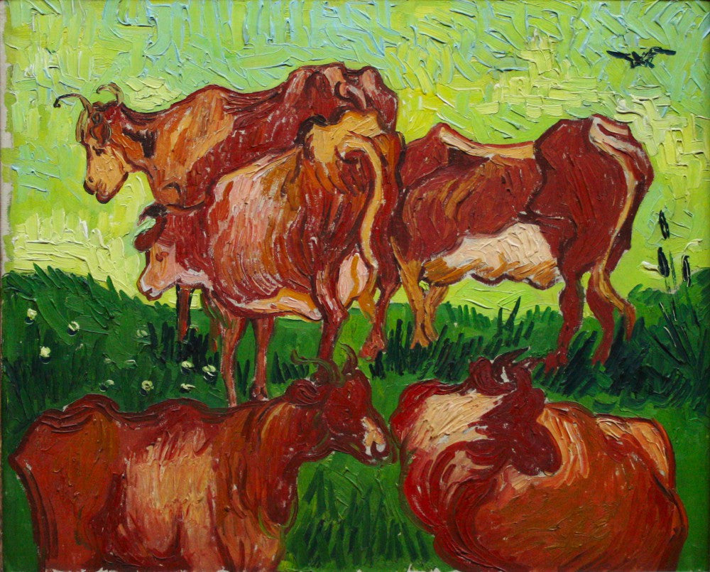 The Museum Outlet - Les vaches by Van_Gogh