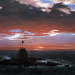The Museum Outlet - Light, of Mount Desert from Iceland by Frederick Edwin Church