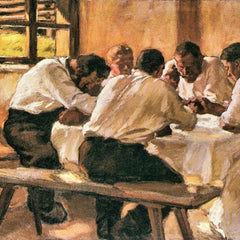 100% Hand Painted Oil on Canvas - Lunch by Albin Egger-Lienz
