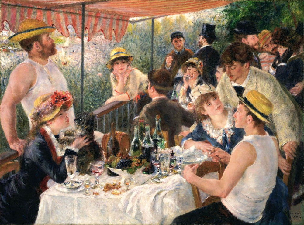The Museum Outlet - Luncheon at the boating party by Renoir