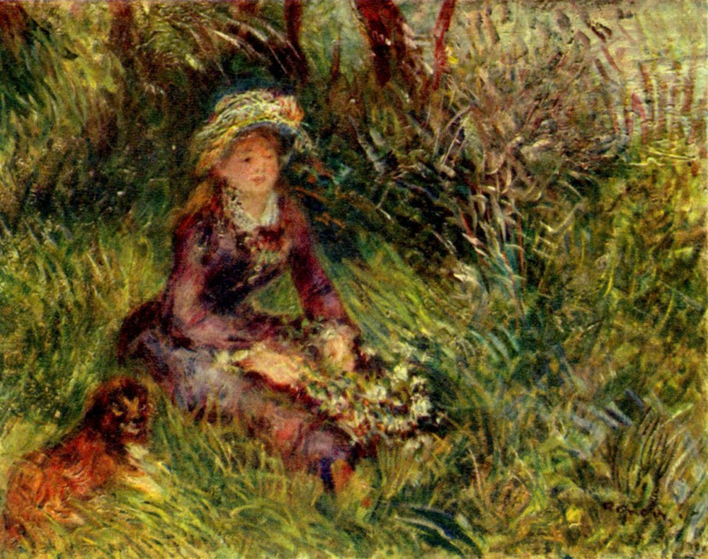 The Museum Outlet - Madame Renoir with dog by Renoir