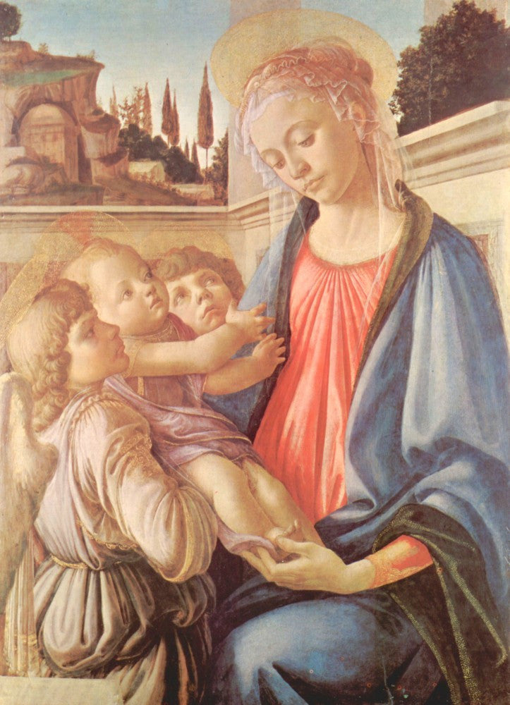 The Museum Outlet - Madonna and two angels by Botticelli