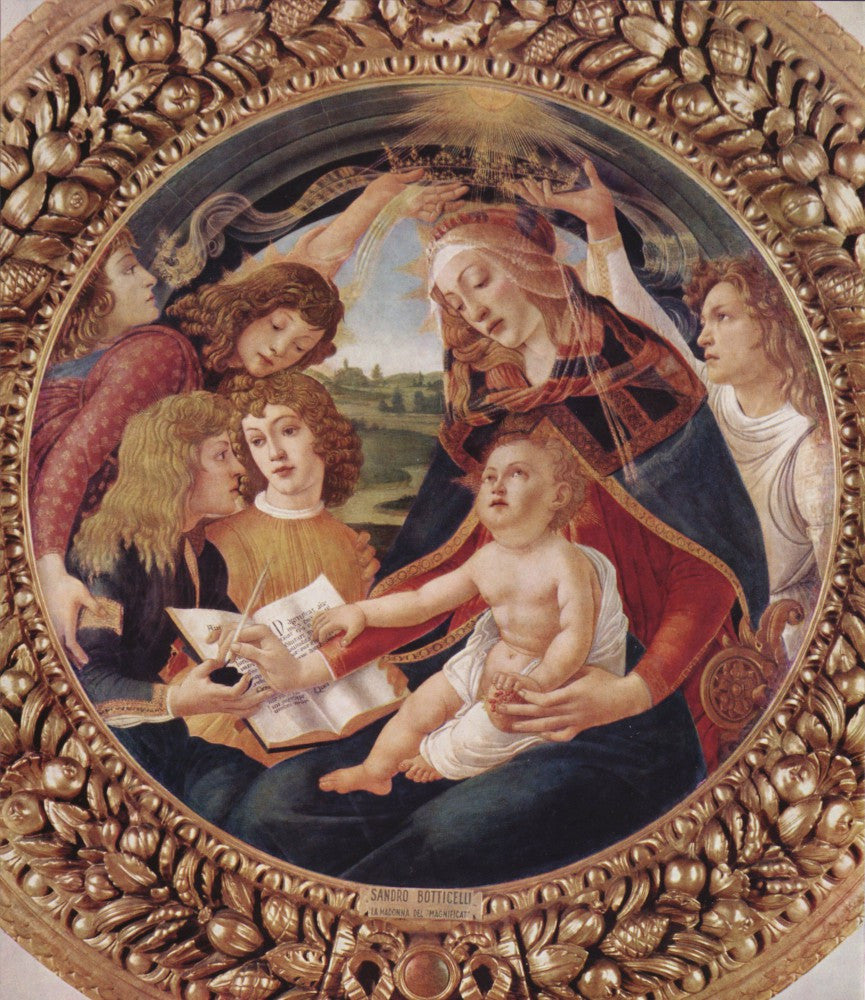 The Museum Outlet - Madonna the Magnificent Detail 1 by Botticelli