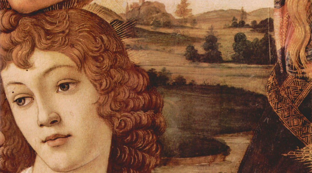 The Museum Outlet - Madonna the Magnificent Detail 3 by Botticelli