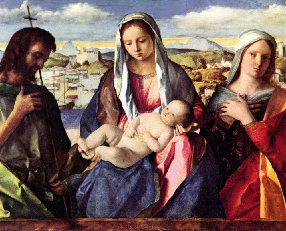 The Museum Outlet - Madonna with John the Baptist and a saint by Bellini