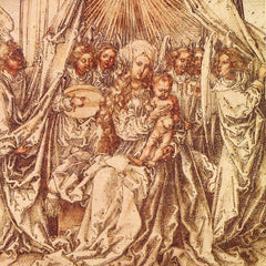 The Museum Outlet - Madonna with angels under a canopy by Durer