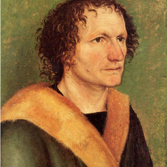 The Museum Outlet - Male portrait in front a green background by Durer