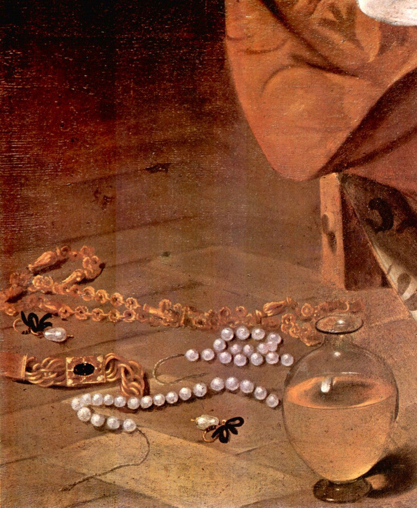 The Museum Outlet - Mary Magdalene detail - Pearls by Caravaggio