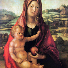 The Museum Outlet - Mary with child against a landscape by Durer