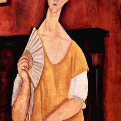 The Museum Outlet - Modigliani - Portrait of Lunia Czechowska with fan