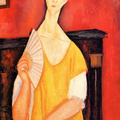 The Museum Outlet - Modigliani - Portrait of Lunia Czechowska with fan [2]
