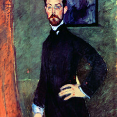 The Museum Outlet - Modigliani - Portrait of Paul Alexanders before a green background