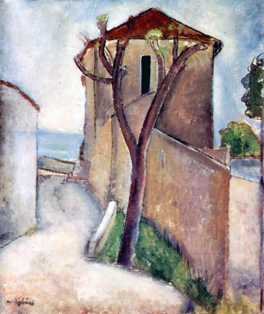 The Museum Outlet - Modigliani - Tree and House