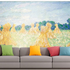 Roshni Arts - Curated Art Wall Mural - Monet - The Young Ladies of Giverny | Self-Adhesive Vinyl Furnishings Decor Wall Art