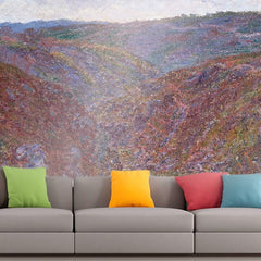 Roshni Arts - Curated Art Wall Mural - Monet - Valley of the Creuse | Self-Adhesive Vinyl Furnishings Decor Wall Art
