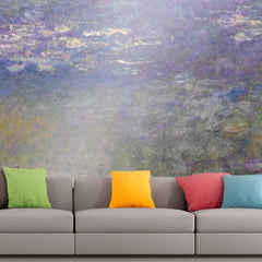 Roshni Arts - Curated Art Wall Mural - Monet - Water Lillies 2 | Self-Adhesive Vinyl Furnishings Decor Wall Art