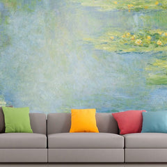 Roshni Arts - Curated Art Wall Mural - Monet - Waterlilies | Self-Adhesive Vinyl Furnishings Decor Wall Art