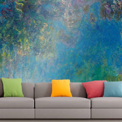 Roshni Arts - Curated Art Wall Mural - Monet - Wisteria | Self-Adhesive Vinyl Furnishings Decor Wall Art