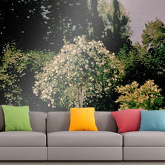 Roshni Arts - Curated Art Wall Mural - Monet - Woman in the garden | Self-Adhesive Vinyl Furnishings Decor Wall Art