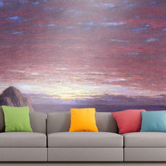 Roshni Arts - Curated Art Wall Mural - Morning by Frederick Edwin Church | Self-Adhesive Vinyl Furnishings Decor Wall Art
