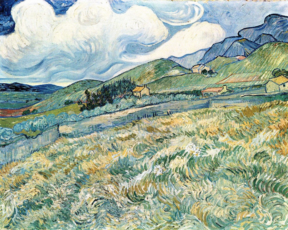 The Museum Outlet - Mountain landscape behind the Hospital Saint-Paul by Van Gogh