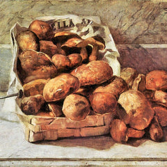 100% Hand Painted Oil on Canvas - Mushrooms by Giovanni Segantini