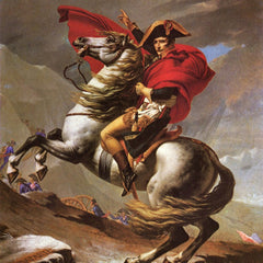 100% Hand Painted Oil on Canvas - Napoleon crosses the great St. Bernard Pass by Jacques Louis David