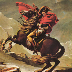 100% Hand Painted Oil on Canvas - Napoleon crossing the Alps by Jacques Louis David