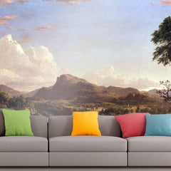 Roshni Arts - Curated Art Wall Mural - New England scene by Frederick Edwin Church | Self-Adhesive Vinyl Furnishings Decor Wall Art
