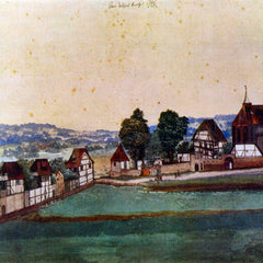 The Museum Outlet - Nuremberg, Suburb with a church and cemetery from north by Durer
