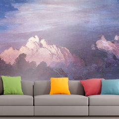 Roshni Arts - Curated Art Wall Mural - Olana in the clouds by Frederick Edwin Church | Self-Adhesive Vinyl Furnishings Decor Wall Art