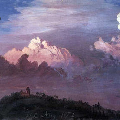 The Museum Outlet - Olana in the clouds by Frederick Edwin Church